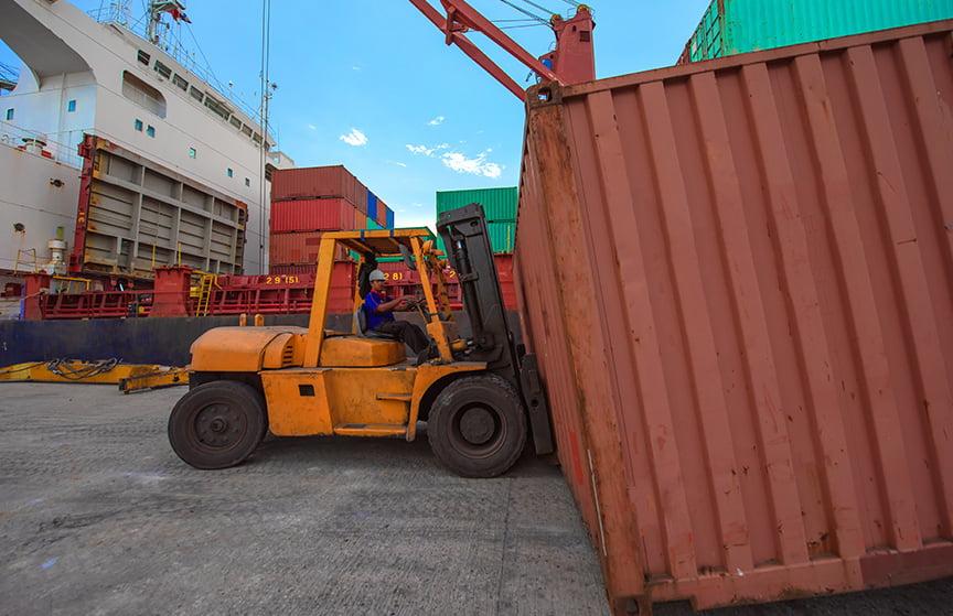 labour service container handler forklift driver